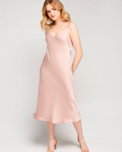 Светло-розовое повседневное платье для офиса Must Have