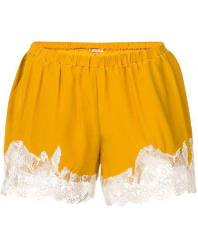 Желтые шорты с карманами Gold Hawk