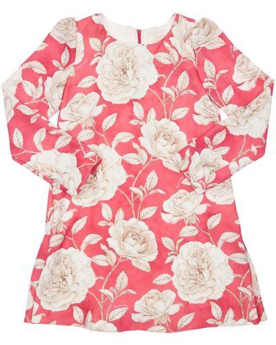 Платье макси длинное - красное Monnalisa