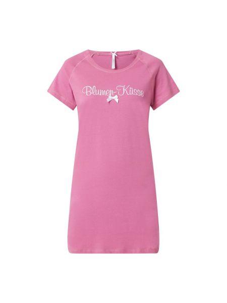 Różowa koszula nocna bawełniana Louis & Louisa