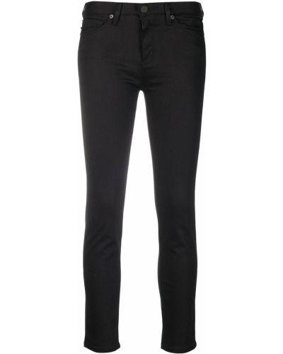 Облегающие черные джинсы-скинни на молнии Love Moschino
