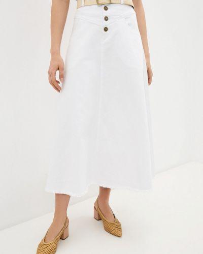 Белая джинсовая юбка Francesco Donni