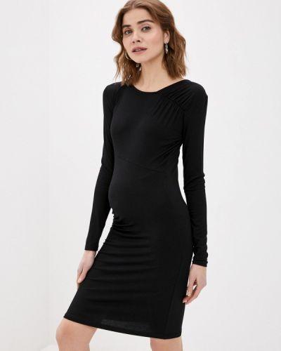 Черное прямое платье Mama.licious