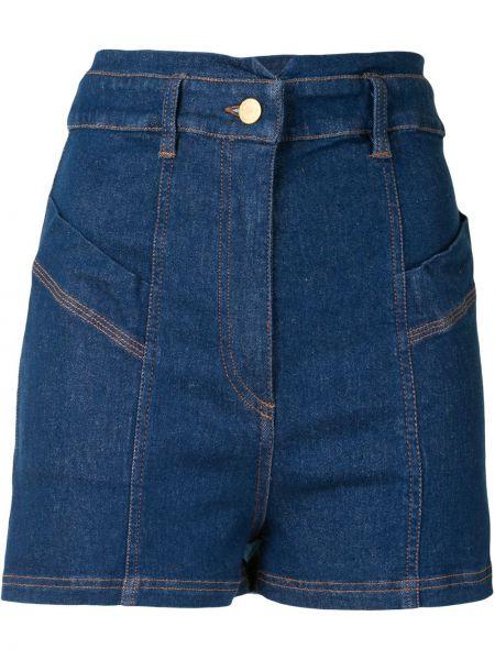 Синие хлопковые с завышенной талией джинсовые шорты Manning Cartell