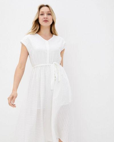 Прямое белое платье А-силуэта снежная королева