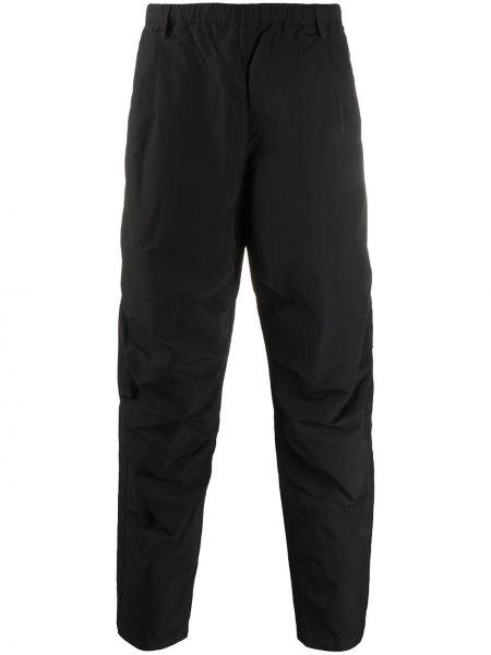 Свободные черные брюки свободного кроя с поясом Nemen