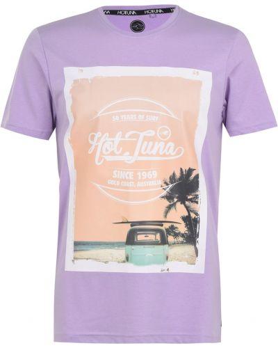 Prążkowana klasyczna koszula krótki rękaw Hot Tuna