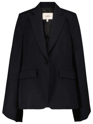 Шерстяной синий пиджак стрейч Dorothee Schumacher