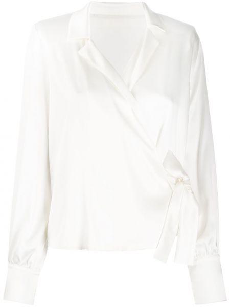Блузка с длинным рукавом в полоску с запахом Federica Tosi