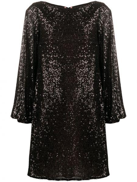 Платье с пайетками - черное Talbot Runhof