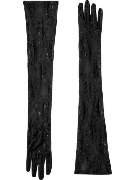 Перчатки длинные с узором с вышивкой Gucci