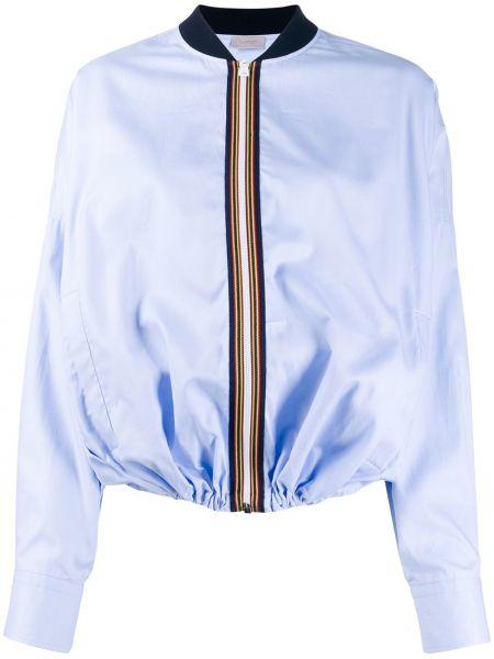 Синяя короткая куртка с манжетами Mrz