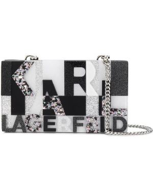Сумка на цепочке с леопардовым принтом на плечо Karl Lagerfeld