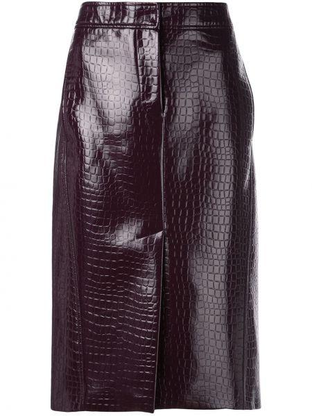 С завышенной талией юбка с разрезом на молнии с карманами Tibi