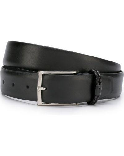Черный кожаный ремень Canali