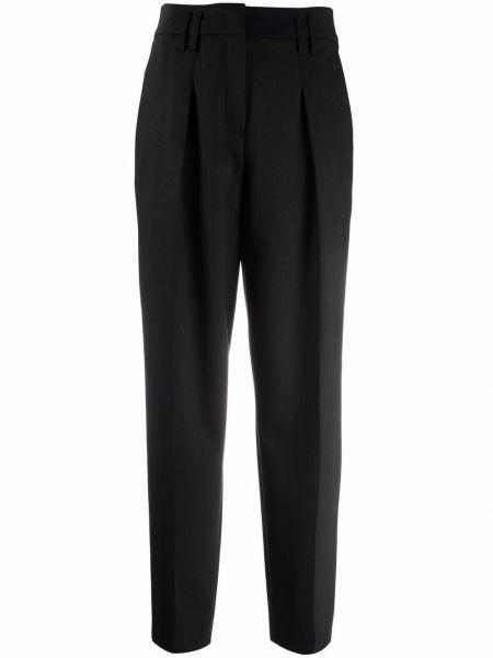 Серые брюки с завышенной талией Luisa Cerano