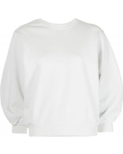 Белый хлопковый свитшот с манжетами Agolde