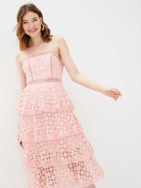 Вечернее платье розовое весеннее True Decadence