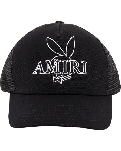 Czarna czapka z daszkiem Amiri