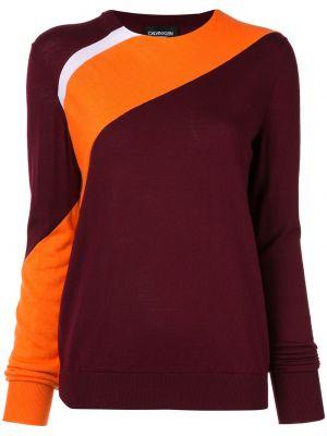 Красный акриловый свитер в рубчик с круглым вырезом Calvin Klein 205w39nyc