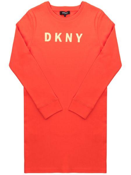 Czerwona sukienka na co dzień Dkny