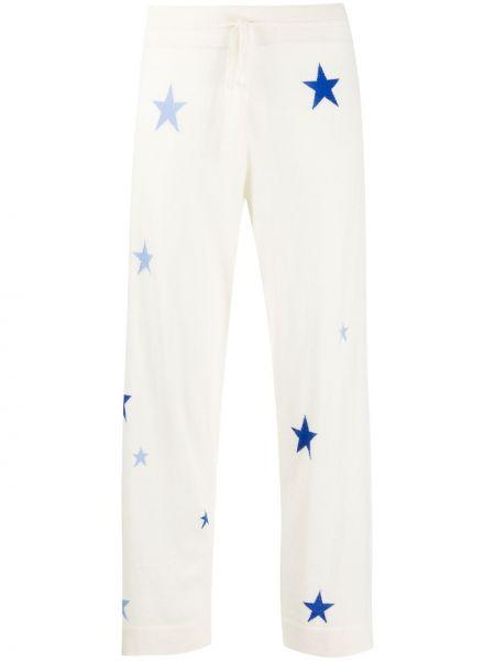 С кулиской кашемировые укороченные брюки с карманами Chinti & Parker