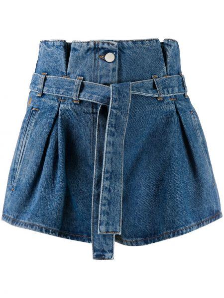 Niebieskie jeansy z wysokim stanem bawełniane Attico
