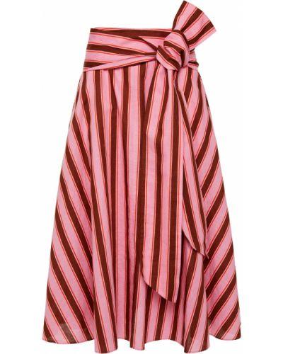 Хлопковая юбка миди с карманами на крючках Kate Spade New York