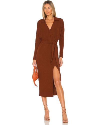 Sukienka midi prążkowana Saylor
