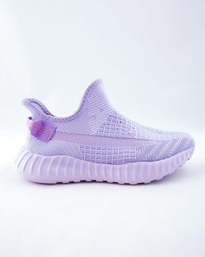 Текстильные фиолетовые кроссовки Saijun