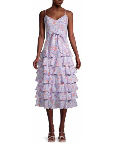 Платье в цветочный принт - фиолетовое Likely