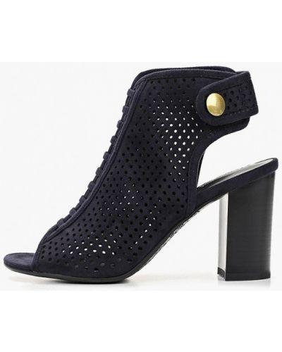 Босоножки на каблуке синий Zenden Woman