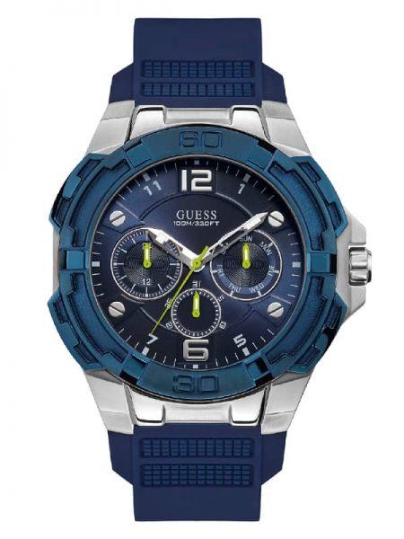 Czarny złoty sport zegarek Guess