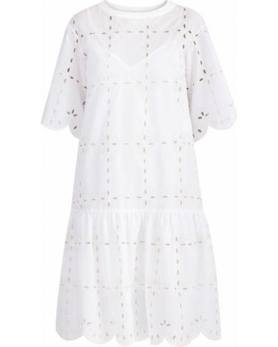 Платье с драпировкой свободного кроя See By Chloe