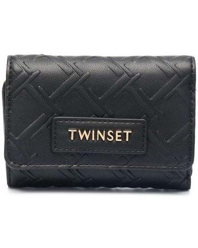 Золотистый черный кошелек на кнопках Twin-set