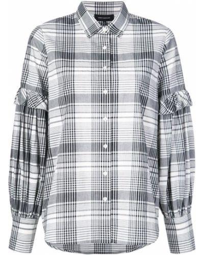 Классическая черная классическая рубашка на пуговицах с отворотом Robert Rodriguez Studio
