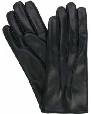 Skórzany rękawiczki z mankietami prążkowany Mario Portolano