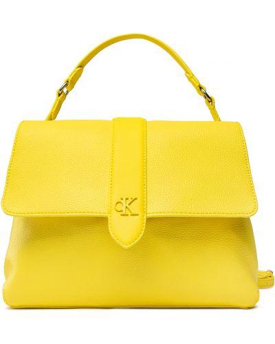 Żółta torebka Calvin Klein Jeans