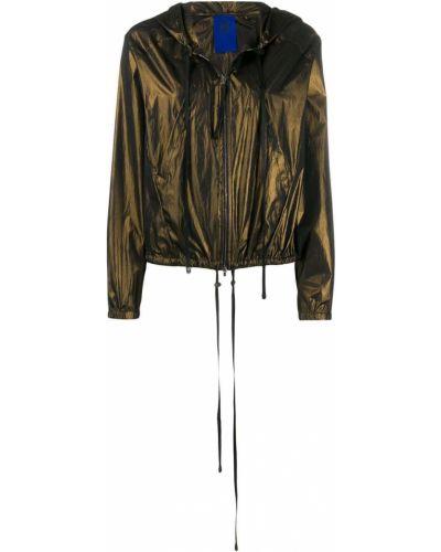Прямая облегченная куртка с капюшоном мятная Ilaria Nistri