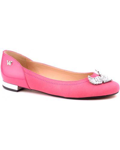 Розовые балетки Werner