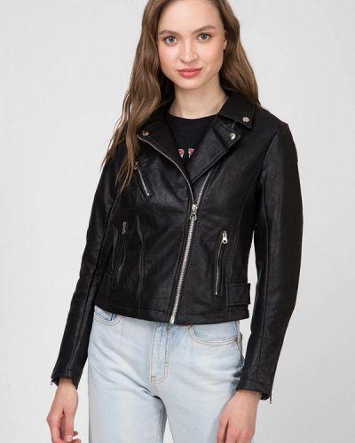 Кожаная куртка - черная Terranova