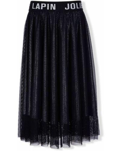 Домашняя черная юбка миди из фатина Lapin House