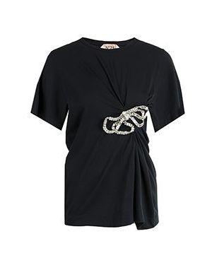 Хлопковая футбольная черная футболка No.21