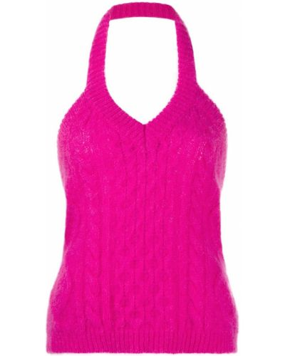 Топ с открытой спиной - розовый Laneus