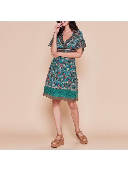 Платье мини с V-образным вырезом расклешенное Rene Derhy