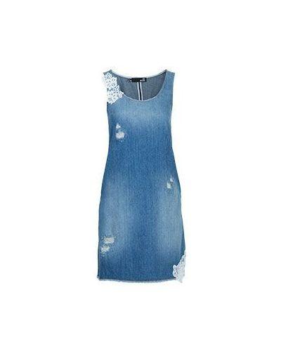Джинсовое платье хлопковое синее Moschino Love