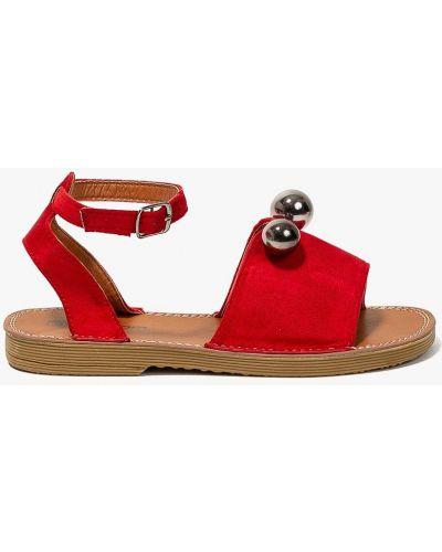Красные сандалии текстильные Answear