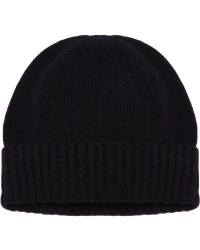 Вязаная шапка с отворотом кашемировая Allude
