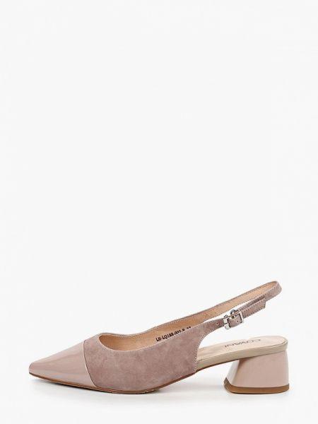 Замшевые туфли кожаные с открытой пяткой Covani