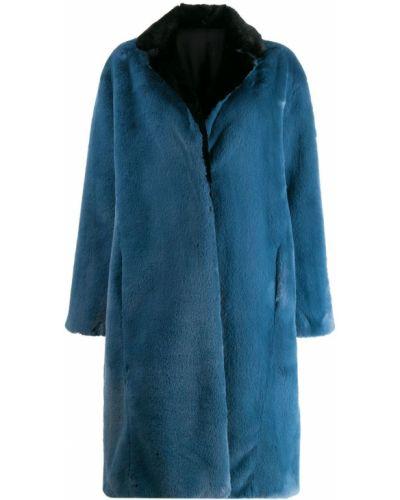 Синее пальто классическое с воротником Heron Preston